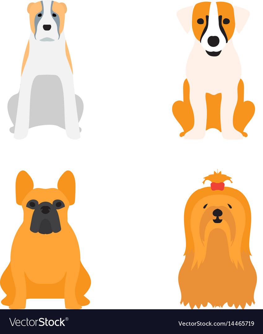 Funny cartoon dog character bread cartoon puppy