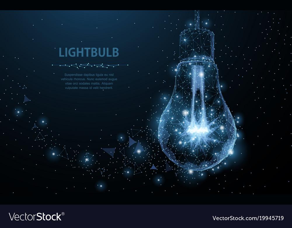 Lightbulb polygonal mesh art looks like
