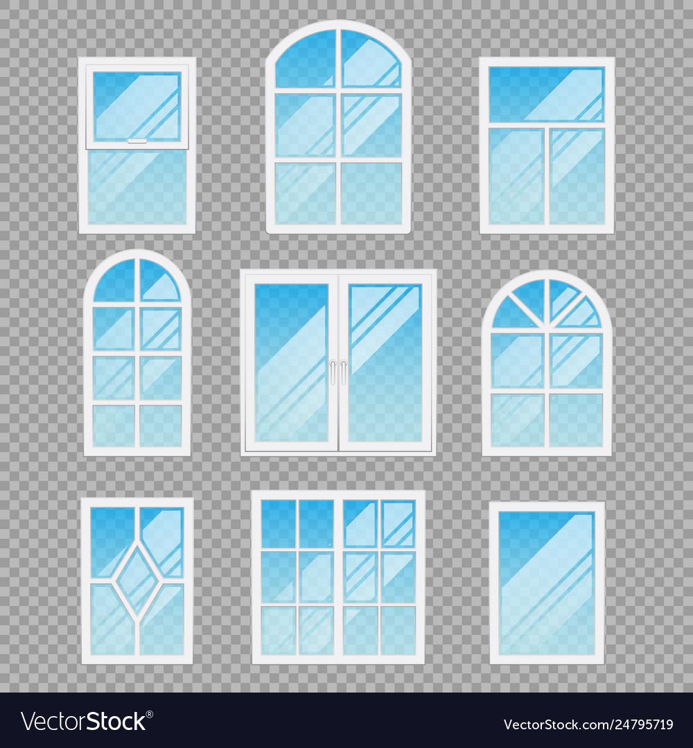 Modern transparent windows different forms