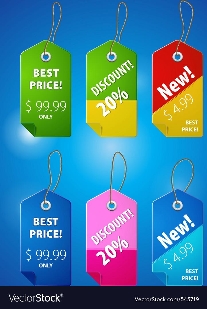 Price tab illutstraion vector image