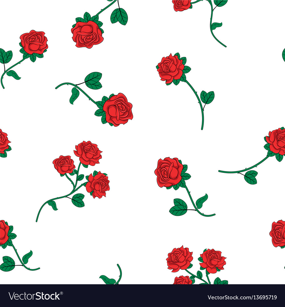 Seamless wallpaper wild roses vector image