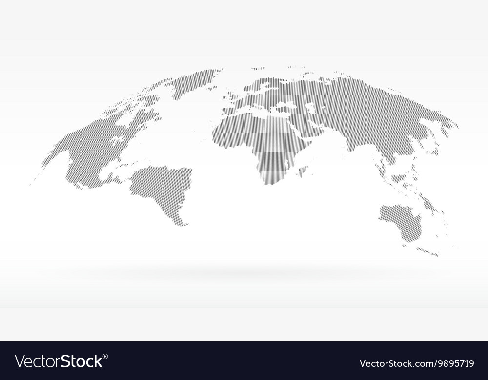 Simple black dots world map concept of royalty free vector simple black dots world map concept of vector image gumiabroncs Image collections
