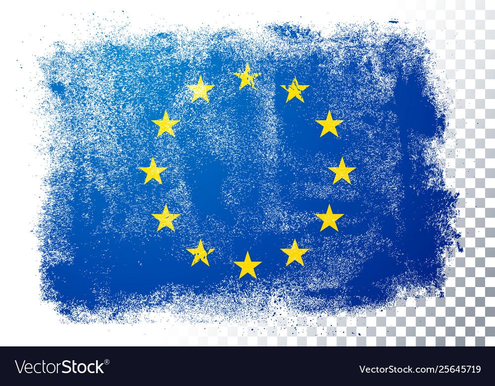 Vintage grunge texture flag europe