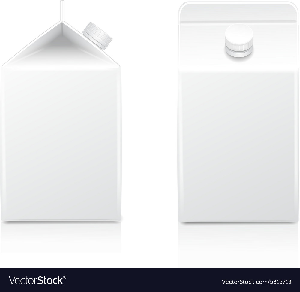 White half-liter cardboard brick package for diary vector image
