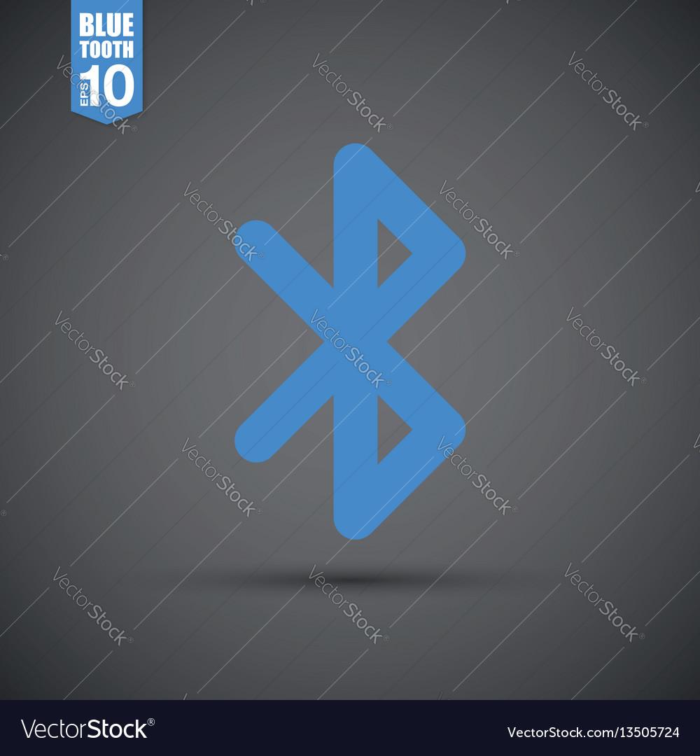 Bluetooth Icon Royalty Free Vector Image Vectorstock