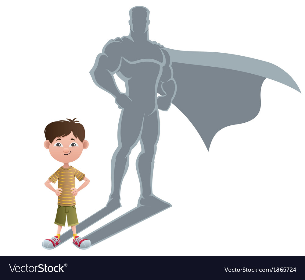 Boy Superhero Concept 2 vector image