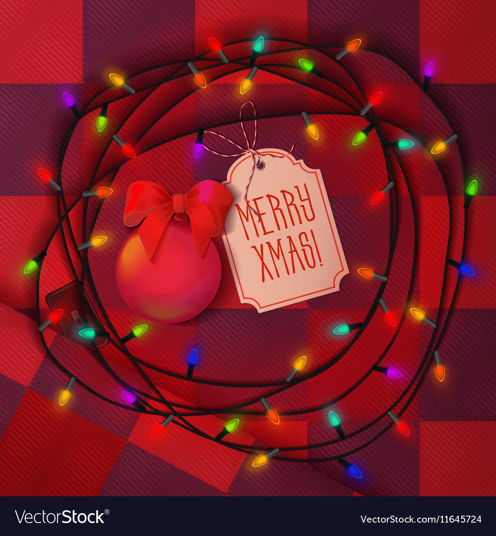 Christmas balls lamp festive garland for holiday