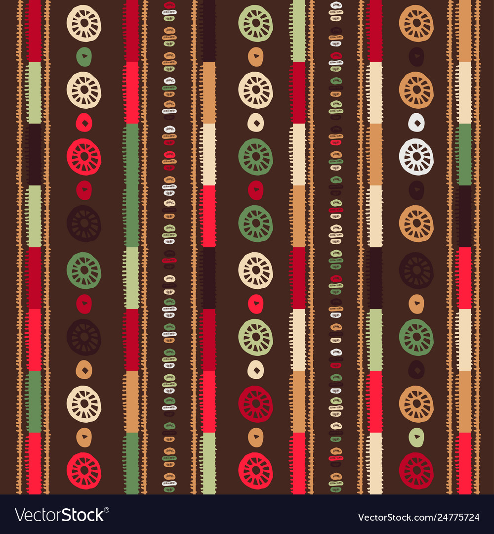 Christmas seamless stripe pattern with nordic