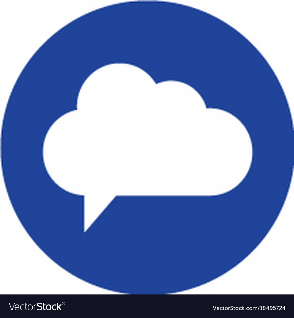 Cloud icon computing concept line style