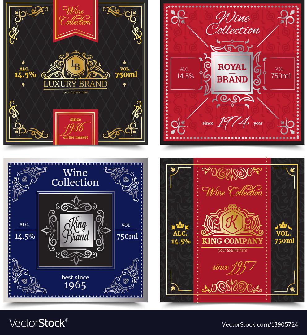 Elegant luxury labels design concept vector image