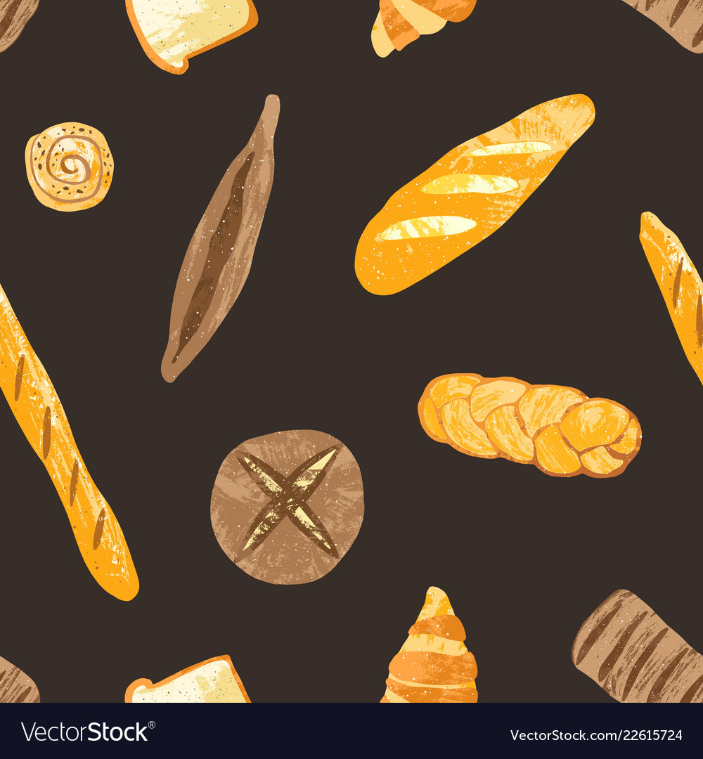 Elegant seamless pattern with delicious whole