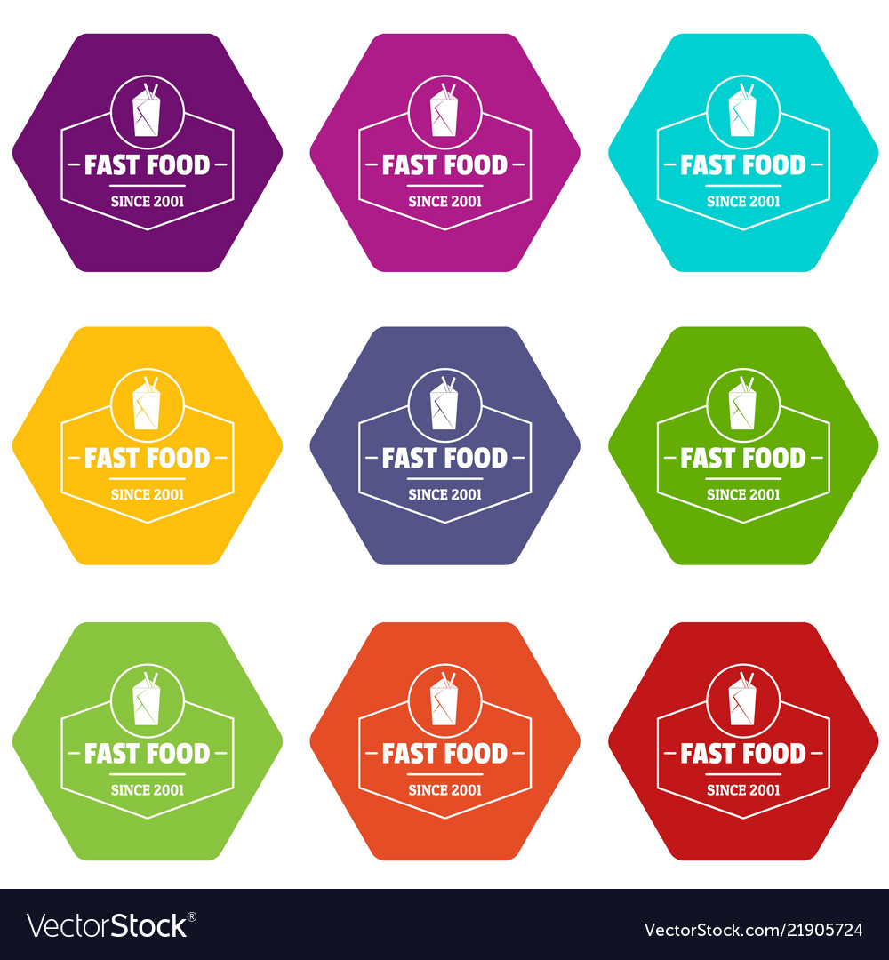 Fast food icons set 9