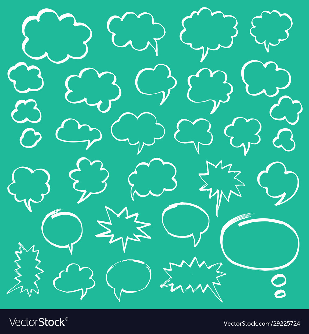 Marker speech bubbles and thought clouds