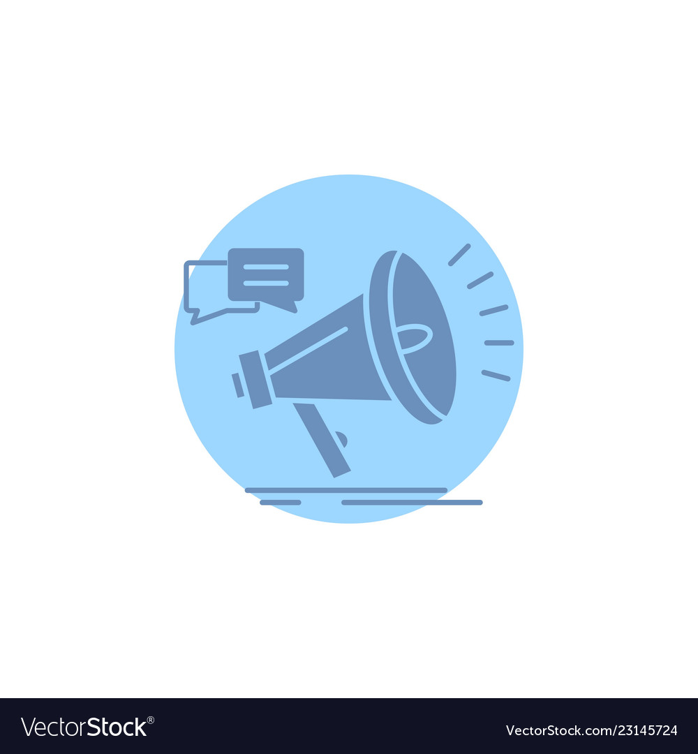 Marketing megaphone announcement promo promotion vector image on VectorStock