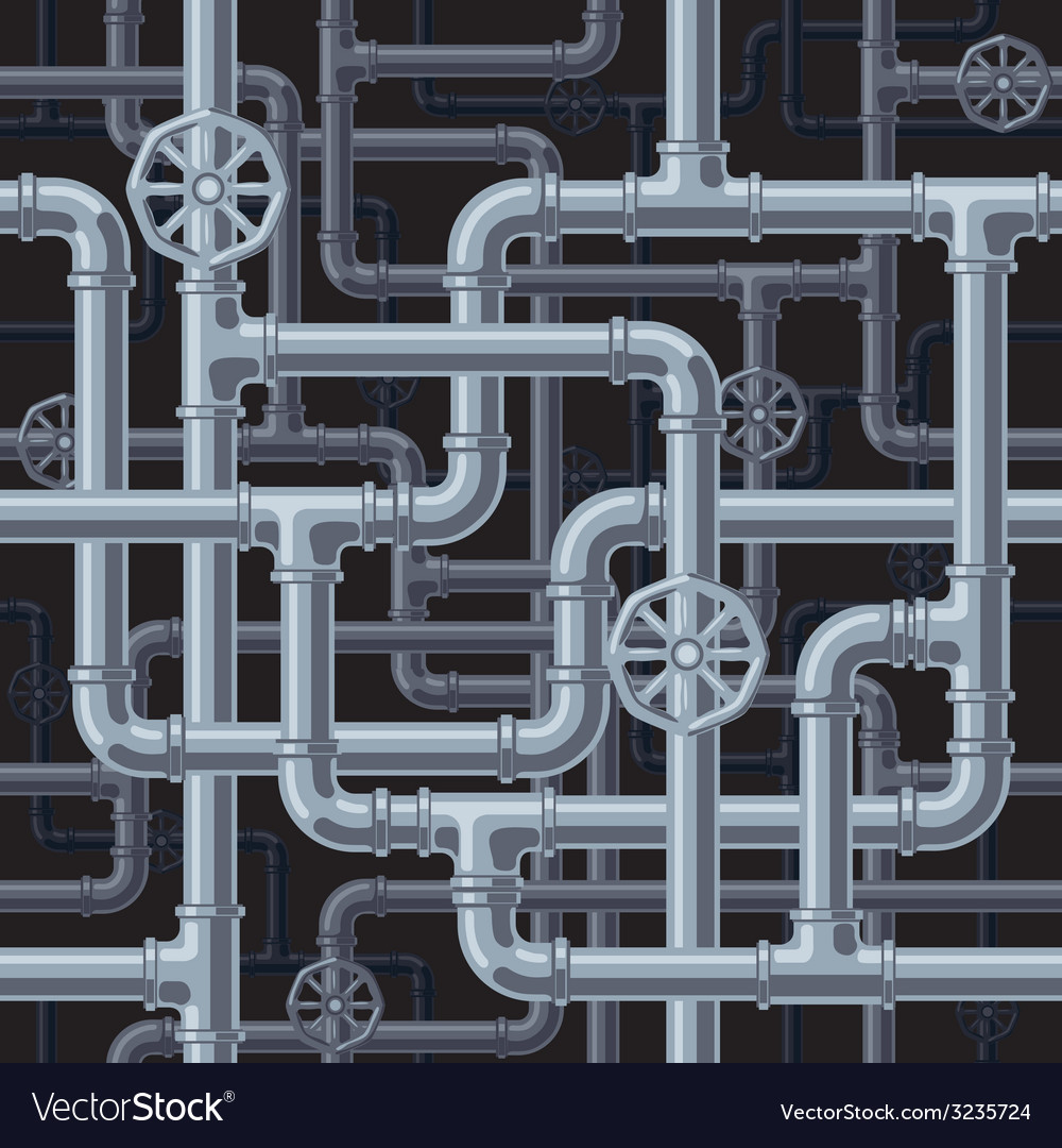 Seamless pipes background Royalty Free Vector Image  Seamless pipes ...