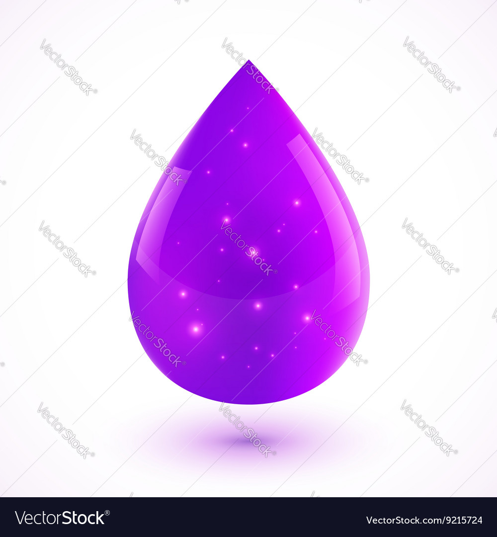 Violet liquid isolated drop vector image