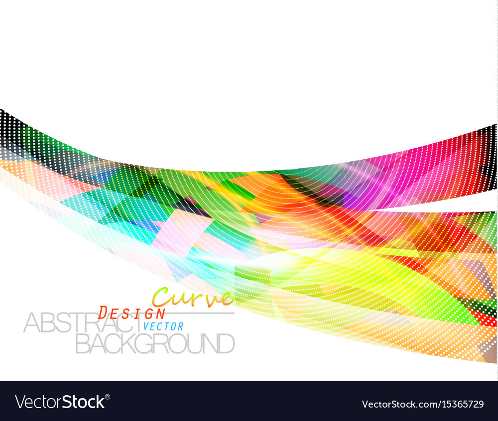 Abstract colors curve scene