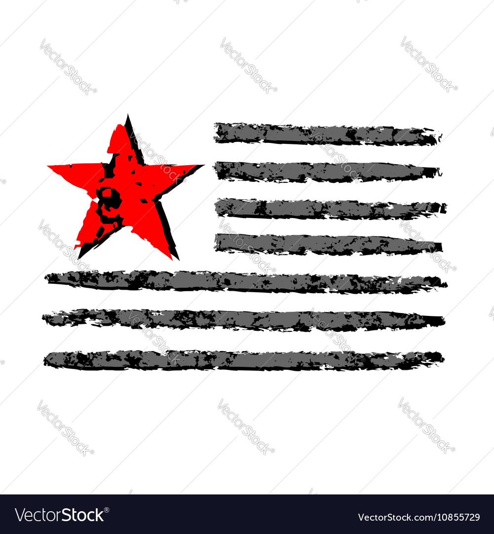 American Flag Grunge Celebration Independence Day Vector Image