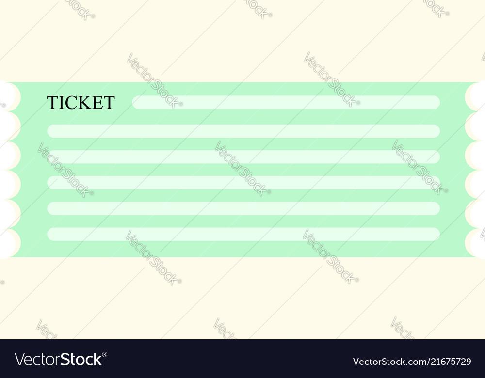 Green ticket coupon icon