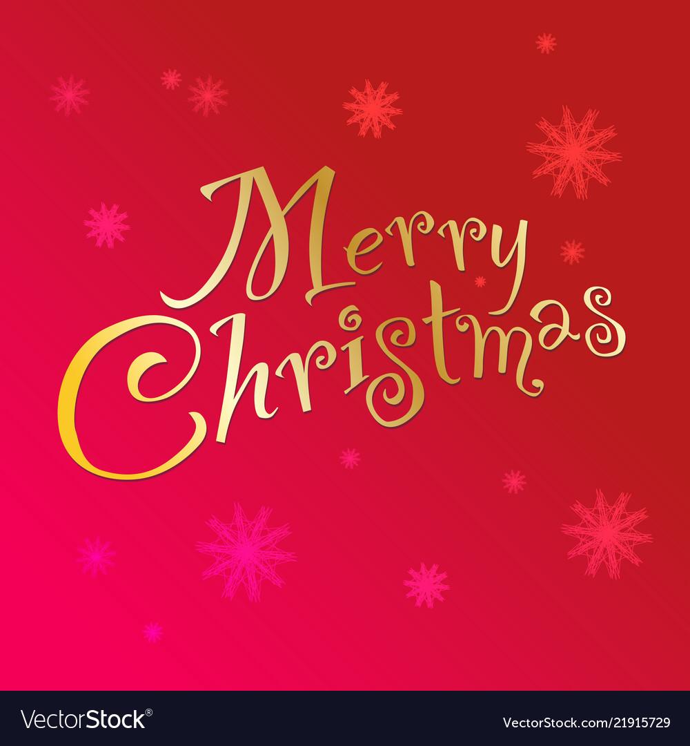 Christmas Vector Free Download.Handwritten Text Merry Christmas