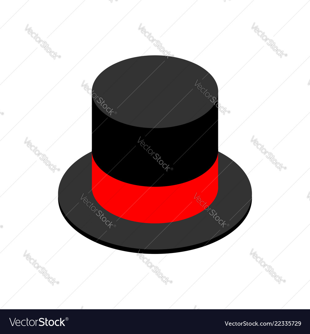 38ebc608cd811 Hat cylinder isometric style isolated cap Vector Image