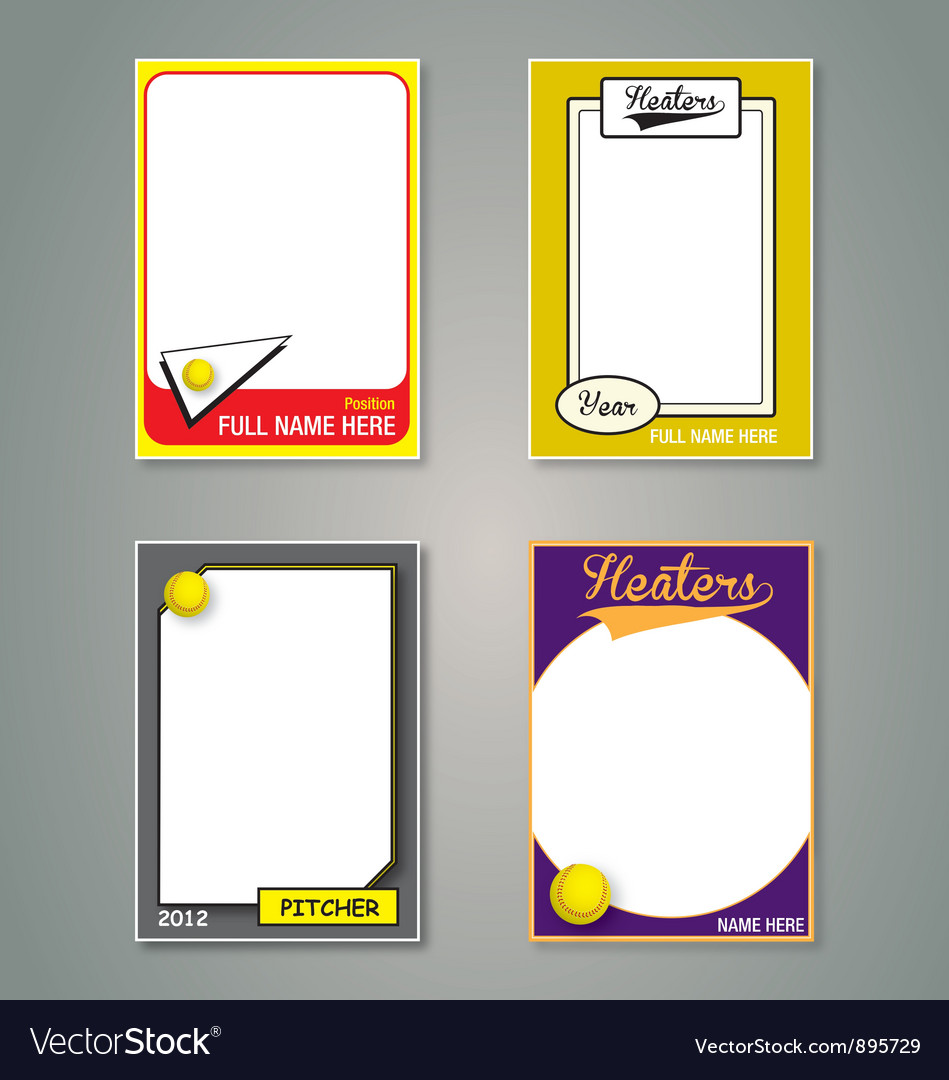 Softball Cards vector image