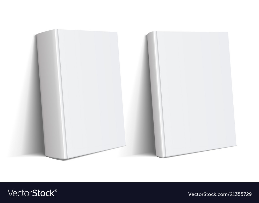 Thick and thin books of white color