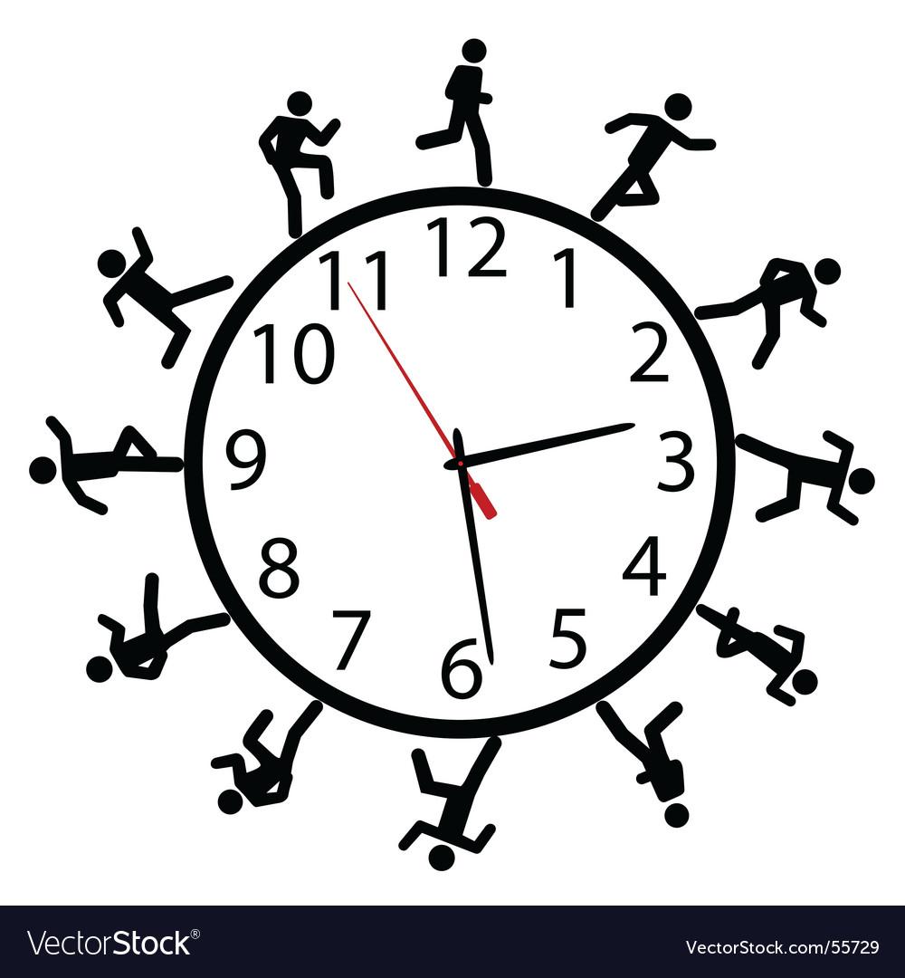 Time illustration vector image