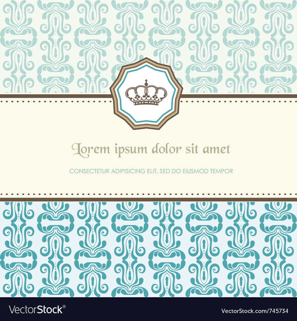Baroque card vector