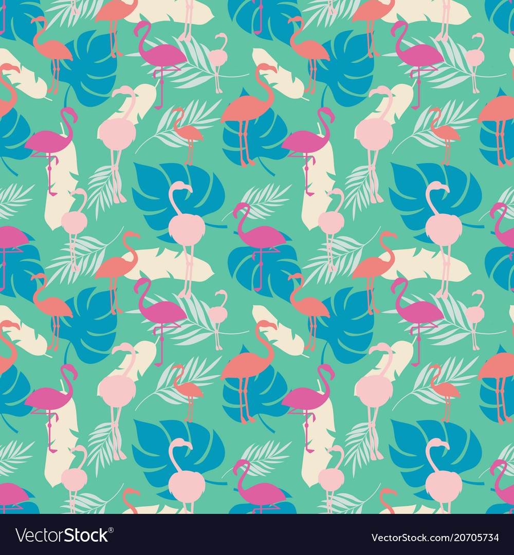 Bright tropical summer seamless pattern with