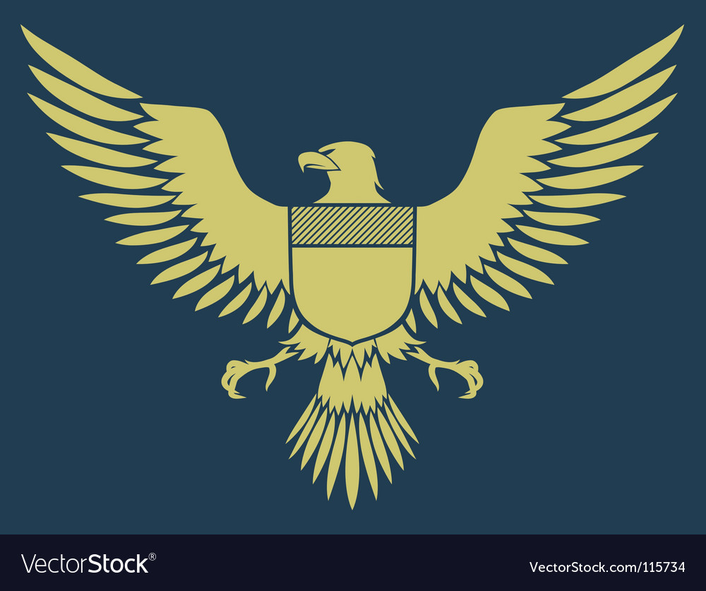 Medieval eagle vector image