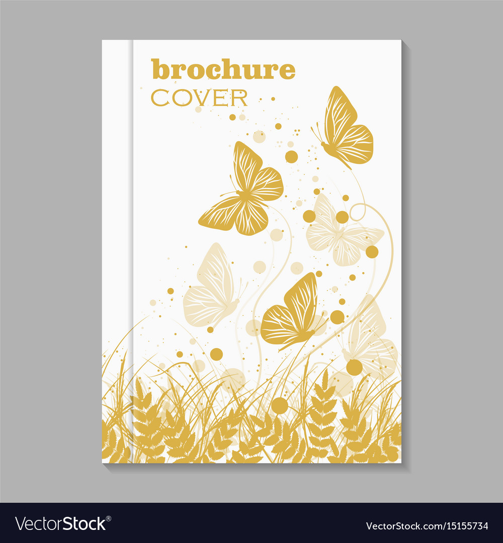 Natural brochure cover design