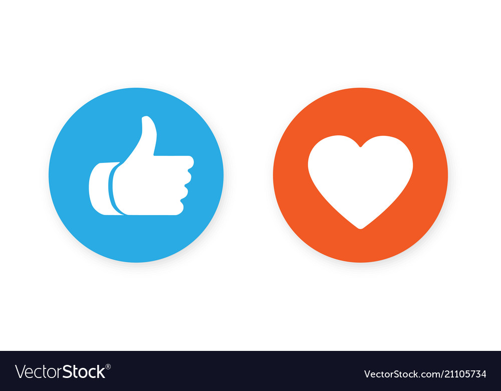 Thumbs up and heart icon