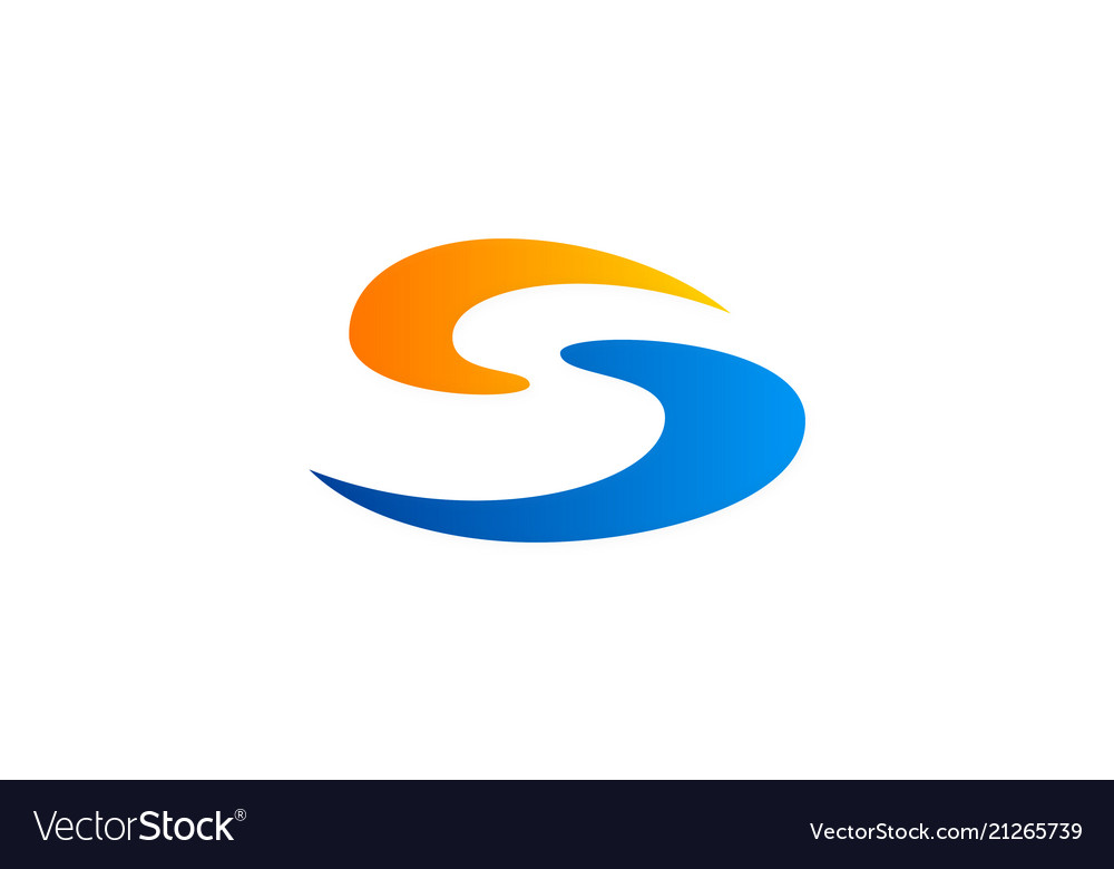 Abstract letter s business logo