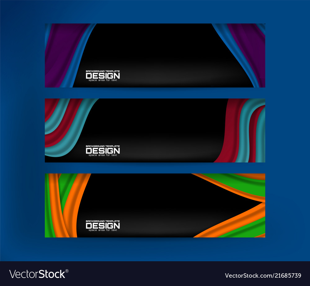 Banner abstract background