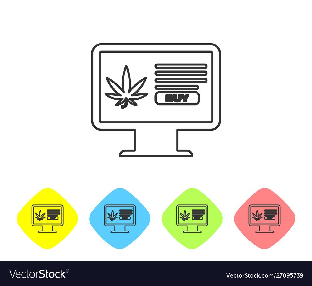 Grey line computer monitor and medical marijuana