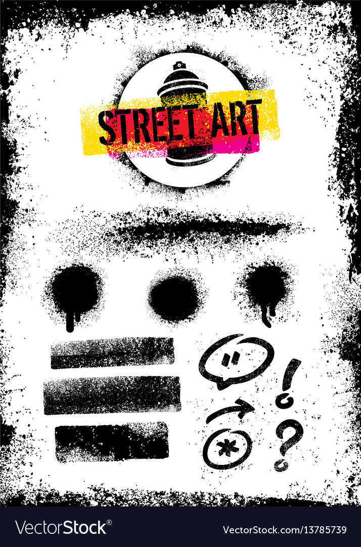 I love street art creative bright poster