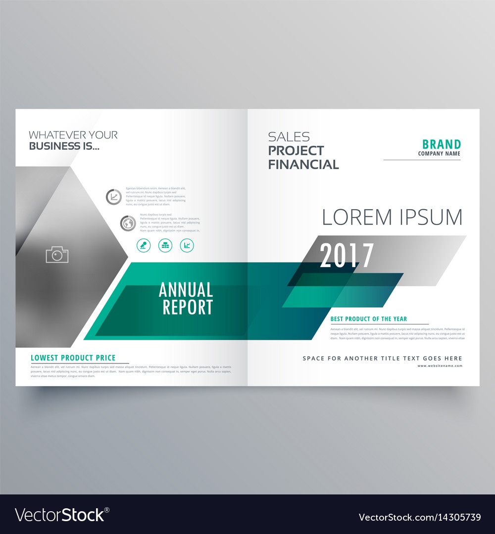 modern bifold brochure template design for your vector image