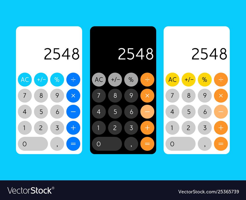 Smartphone calculator app interface mobile