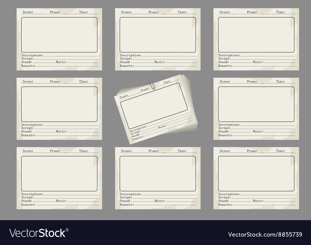 Storyboard Template In Retro Style Royalty Free Vector Image