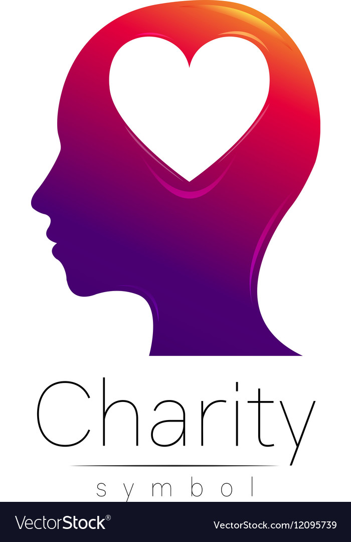Symbol Of Charity Sign Head Royalty Free Vector Image