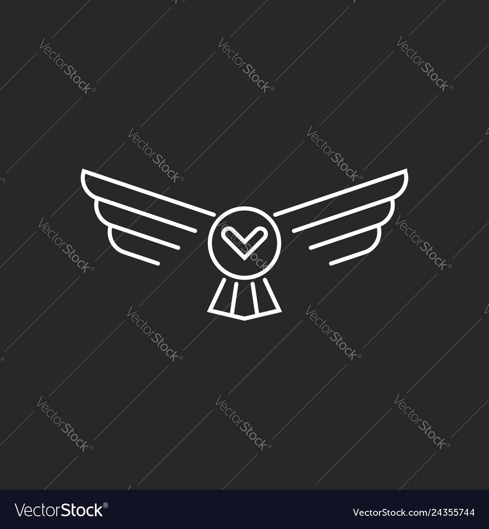 Bird flying owl logo thin lines linear minimalist