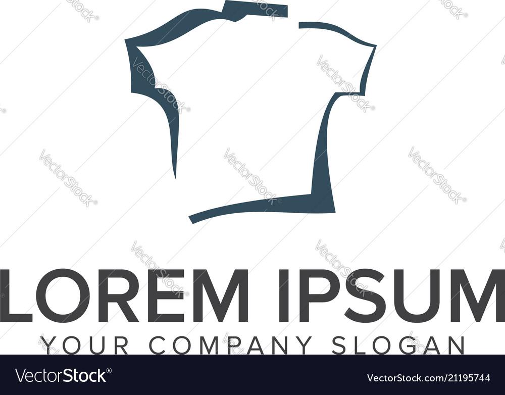 Shirt logo design concept template