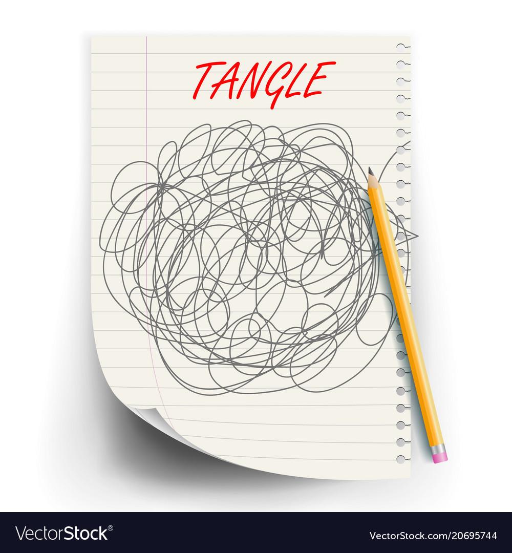 Tangle scrawl sketch drawing circle