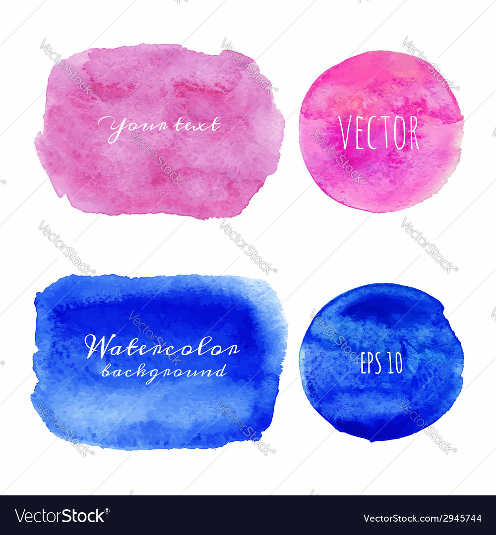 Wet watercolor backgrounds hand painted