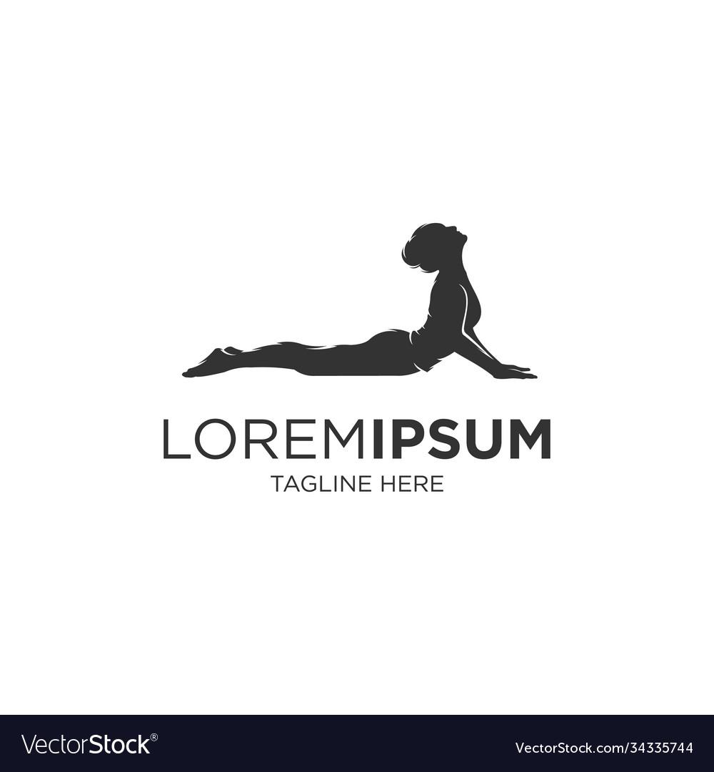 Woman yoga silhouette logo