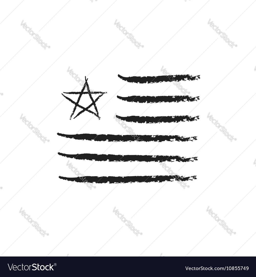 American Flag Grunge Royalty Free Vector Image
