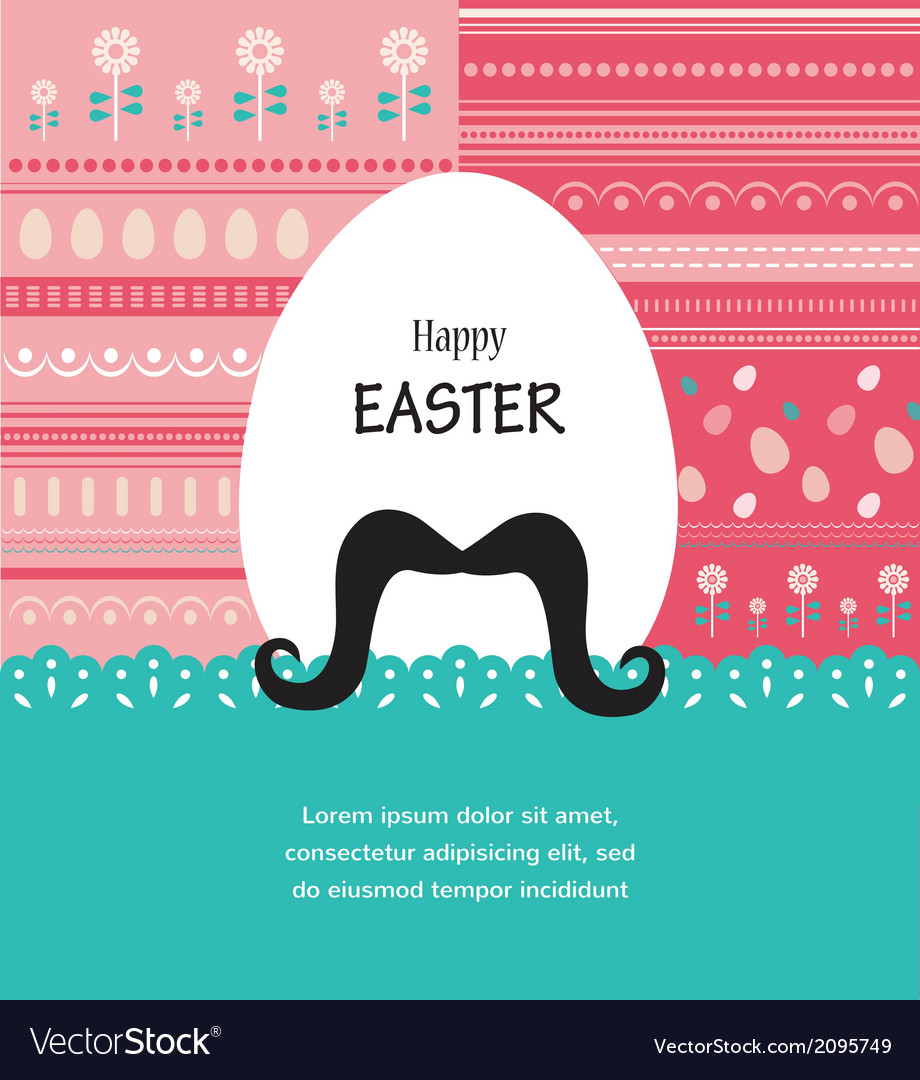 Background and greeting card with hipster Easter