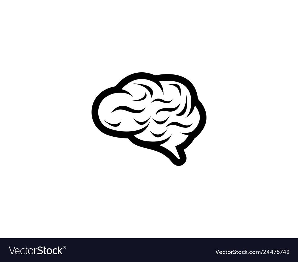 Brain logo template icon