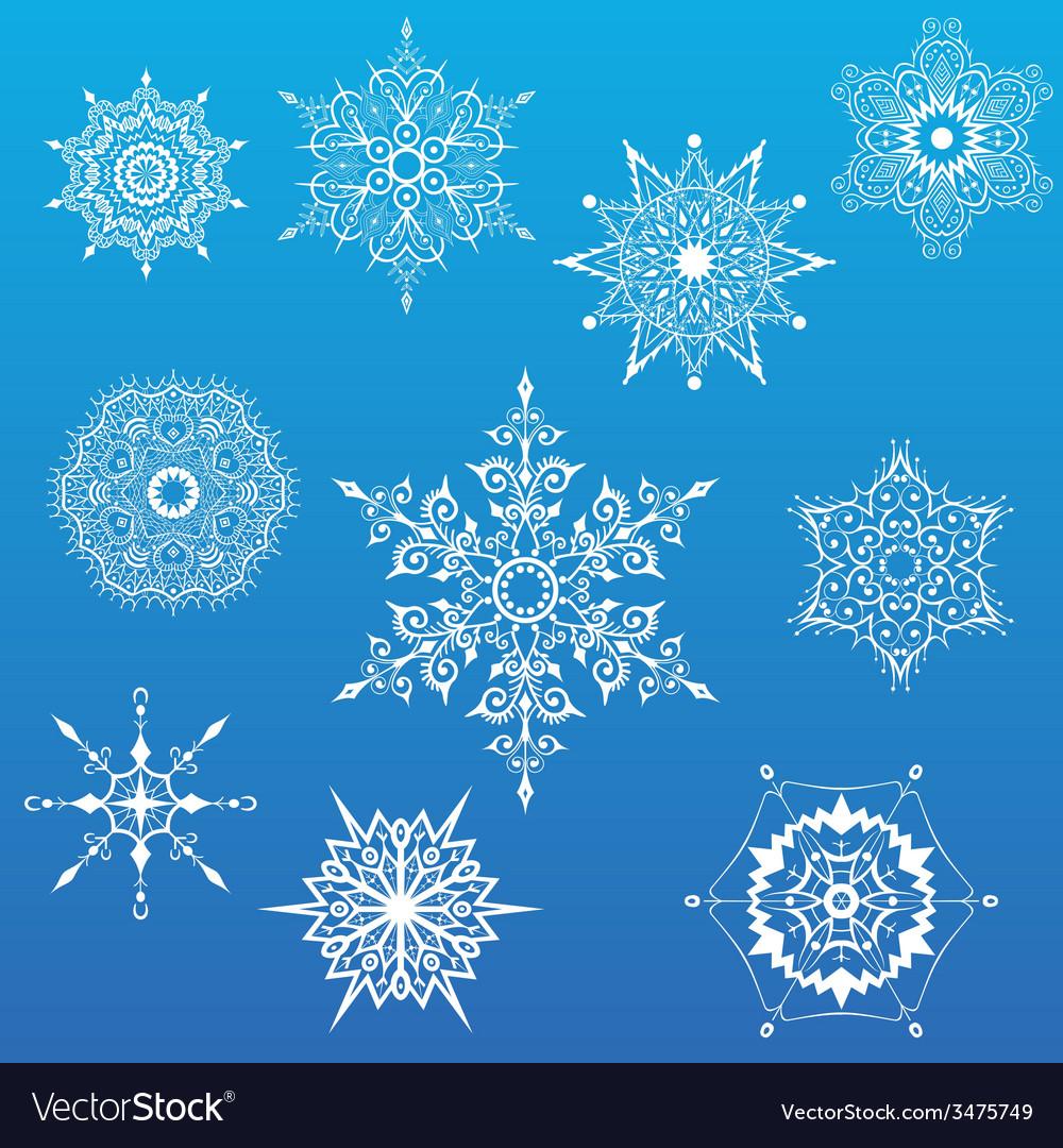 Decorative Snowflakes set